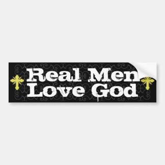 Real Men Love God Christian Bumper Stickers