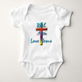 REAL MEN LOVE JESUS BABY BODYSUIT
