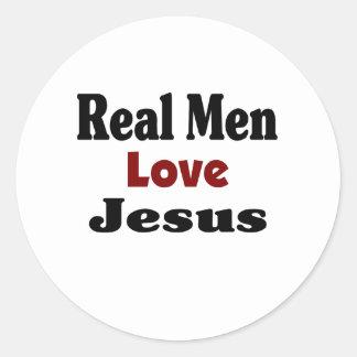 Real Men Love Jesus Round Sticker