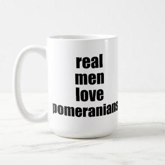 Real Men Love Pomeranians Coffee Mug