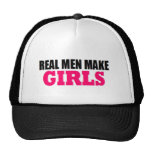 REAL MEN MAKE GIRLS BABY DADDY NEW FATHER TRUCKER HAT