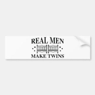 Real Men Make Twins Bumper Sticker