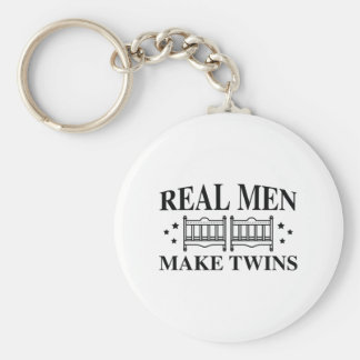 Real Men Make Twins Keychain
