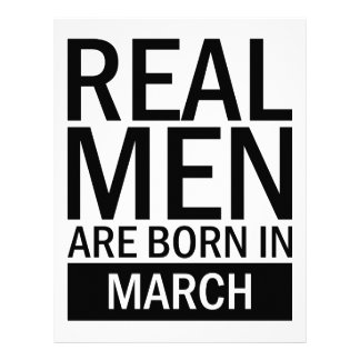 Real Men March Letterhead