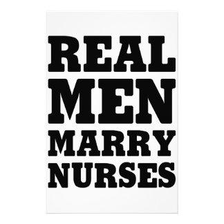 Real Men Marry Nurses Stationery