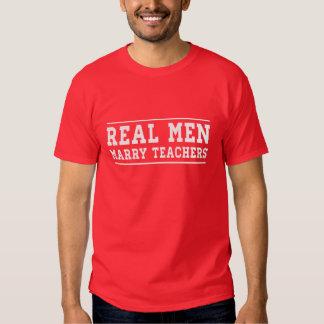 Real Men Marry Teachers Shirts