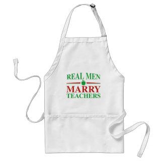 Real Men Marry Teachers Standard Apron