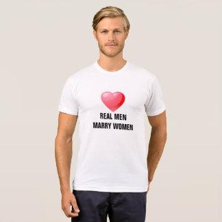 Real men marry women on American Apparel shirt