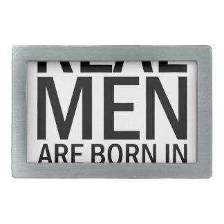 Real Men May Rectangular Belt Buckle
