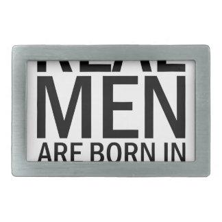 Real Men November Rectangular Belt Buckle