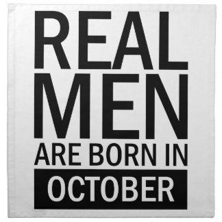 Real Men October Napkin