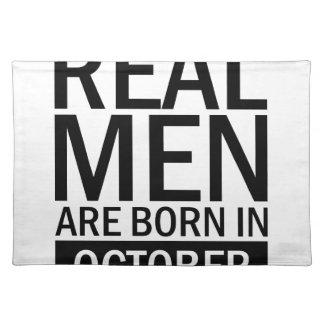 Real Men October Placemat