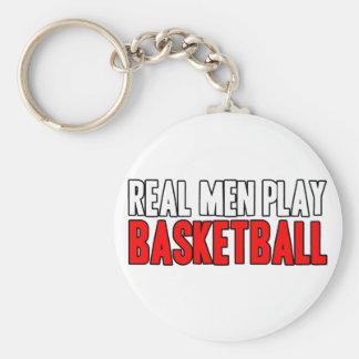 Real Men Play Basketball Keychain