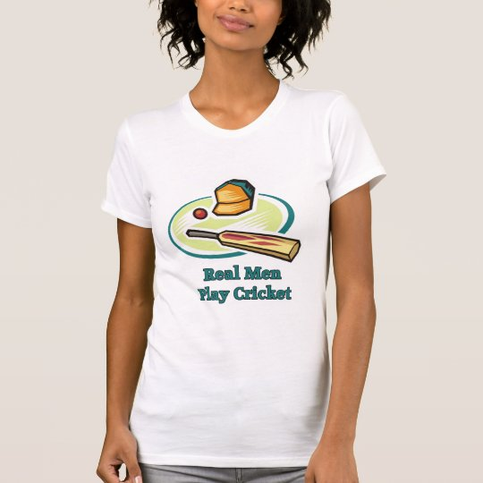 Real Men Play Cricket Women's Tees