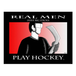 Real Men: Play Hockey Postcard