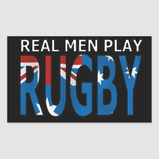 Real Men Play Rugby Australia Sticker