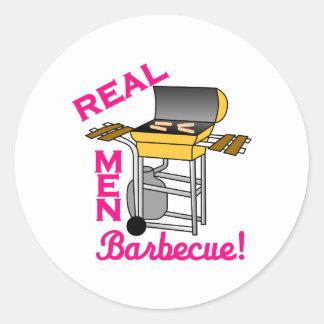 Real Men Round Sticker