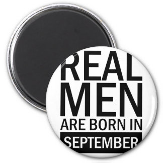 Real Men September Magnet