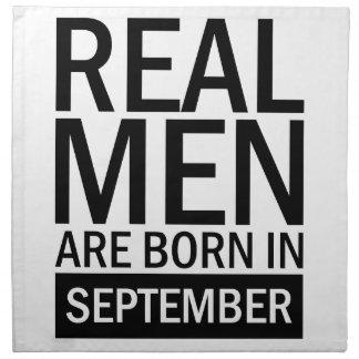Real Men September Napkin