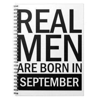 Real Men September Notebook