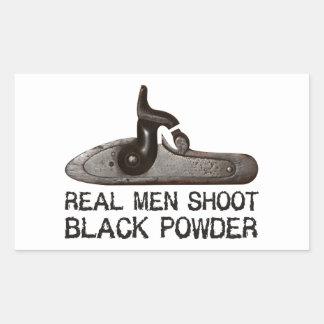 Real men shoot Black Powder, target shooting rifle