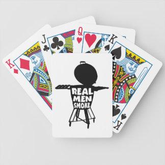 REAL MEN SMOKE BICYCLE PLAYING CARDS