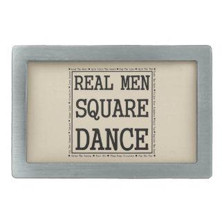 Real Men Square Dance Buckle Rectangular Belt Buckle