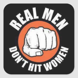 Real Men... Square Sticker