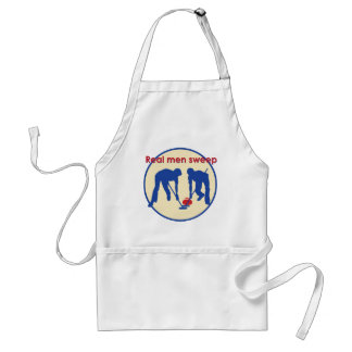 Real Men Sweep! Curling Standard Apron