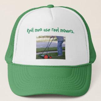 """""""Real men use reel mowers"""" hat"""