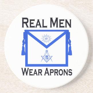 Real Men Wear Aprons Coaster