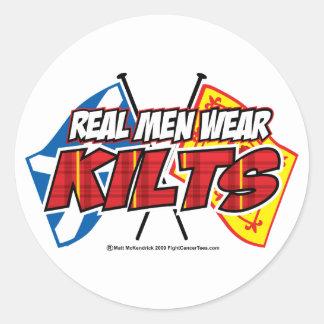 Real Men Wear Kilts 2 Round Sticker
