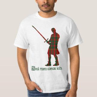 Real Men Wear Kilts Cameron Scottish Tartan T-Shirt