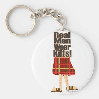 Real Men Wear Kilts Basic Round Button Keychain
