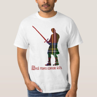Real Men Wear Kilts Royal Stewart Scottish Tartan T-Shirt