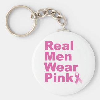 Real Men Wear Pink Keychain