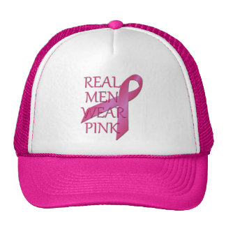 Real Men Wear Pink Mesh Hat