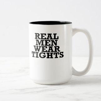 Real men wear tights Two-Tone coffee mug