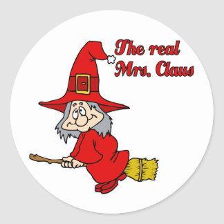 Real Mrs Claus Classic Round Sticker