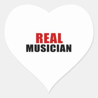 REAL MUSICIAN HEART STICKER