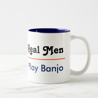 Real one Play banjo Two-Tone Coffee Mug