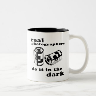 real photographers Two-Tone coffee mug