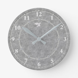 Real Platinum Decorated 3-b Modern Wall Clock Sale