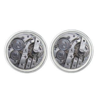 Real Pocket Watch Gears photos Steampunk Cufflinks