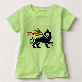 Real Rasta Lion Baby Baby Romper