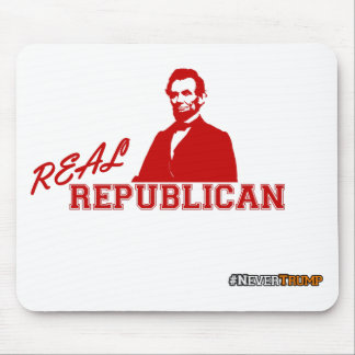 Real Republican, Lincoln, Never Trump Mouse Pad