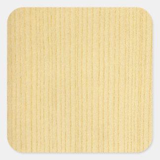 Real Scanned Ash Veneer Woodgrain Square Sticker