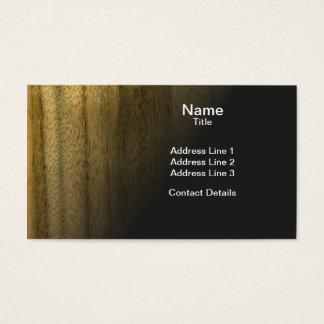 Real Scanned Australian Walnut Veneer Woodgrain Business Card