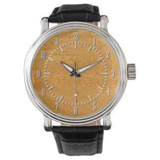 Real Scanned Brazilian Mahogany Veneer Woodgrain Watch
