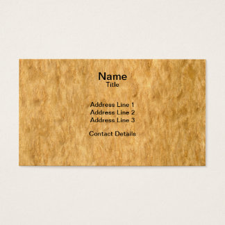Real Scanned Eucalyptus Burr Veneer Woodgrain Business Card